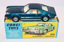 Corgi Toys 264 Oldsmobile Toronado Scarce DARK BLUE version mint in box