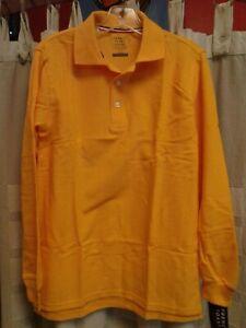 NWT, French Toast, Gold Long Sleeve Polo, Boys L (10/12) School Uniform