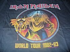 Iron Maiden Men's KO Rock N Roll Vintage Tour 1982 - 83 Black T-Shirt Medium M