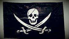 Drapeau Pirate Sabre / Corsaire / TETE de Mort / 145 cm x 90 cm