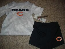 NWT NFL Chicago Bears youth boys 18m shorts and shirt set football outfit