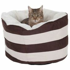 Pet Dog Cat Snuggle Bed Calm Relaxing Bed Comfy Warm Fluffy Beds Elegant Style