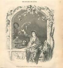 Les bulles de savon par Franz van Mieris le Jeune Musée du Louvre GRAVURE 1839