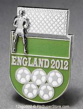 OLYMPIC PINS 2012 LONDON ENGLAND SOCCER FOOTBALL SLIDER SLIDING GOALIE (SILVER)