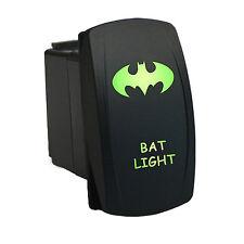 Rocker Switch 6B34G Laser BAT LIGHT dual backlit LED green ARB style