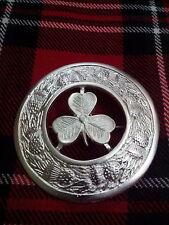 T C Kilt FLY Plaid SPILLA IRLANDESE sharmock placcato argento / patta a quadri