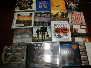 Lot of 16 AUDIO BOOKS ON CD - Fiction & Non-Fiction