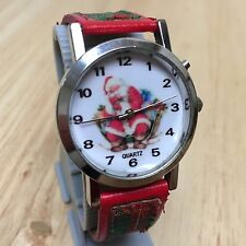 Vintage Christmas Holiday Jingle Bell Musical Analog Quartz Watch Hour~New Batte