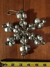 New ListingSnowflake made of metal Jingle Bells Christmas Decoration Ornament 6 inches