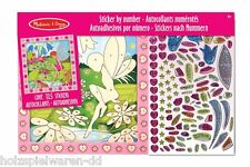 "Melissa & Doug 14299 Sticker board ""Flower fairy"" paint by numbers new! #"