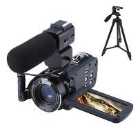 1080P HD 24MP 16X Digital Zoom Video Camcorder Camera DV With Microphone &Tripod