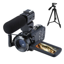 1080P HD 24MP 16X Digital Zoom Video Camcorder Camera DV With Microphone &Tripod