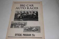 Midget Car Auto Racing Program, California Nov 26 1961