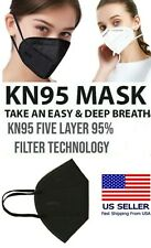 30/50Pcs Black or White KN95 Protective 5 Layers Face Mask Disposable Respirator
