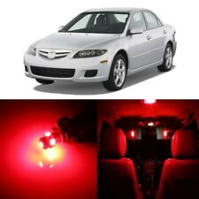 10 x Red LED Interior Lights Package For 2003 - 2008 Mazda 6 + PRY TOOL