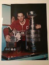 Jean Beliveau autographed 16 x 20 Conn Smythe photo