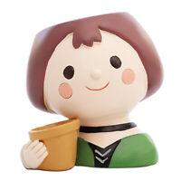 Resin Succulent Plant Pot Cactus Planter Pot Flower Pot Container Cartoon Girl