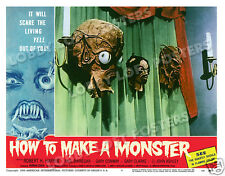 HOW TO MAKE A MONSTER LOBBY SCENE CARD # 5 POSTER 1958 ROBERT H. HARRIS AIP