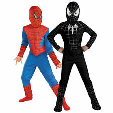 Kids Boys Spiderman Costume Superhero Cosplay Party Cartoon Fancy Dress Outfits