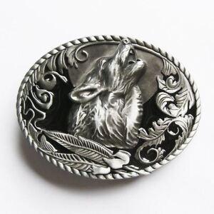 Howling Wolf Western Metal Belt Buckle