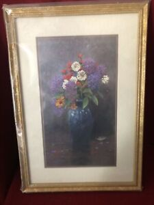 Thomas Kinkade Lilac Bouquet Limited Edition  127/2002 20x13 Collectible Art New