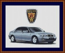 Rover 75 Cross Stitch Chart Rover Cross Stitch Chart light blue
