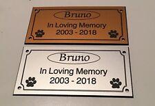 Pet Memorial Bench Plaque (Dogs / Cat paw prints)
