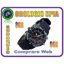 OROLOGIO SPIA MICRO CAMERA 8GB SPY WATCH + MICROCAMERA + FOTOCAMERA + REC AUDIO