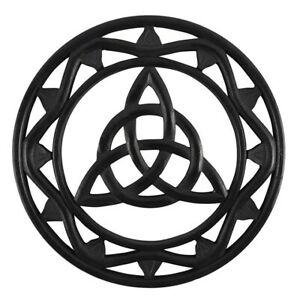 Black Wooden Triquetra Wall Hanging Decoration Altar Wiccan Pagan Witch