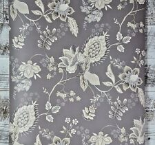 DOUBLE ROLL AUCTION Contemporary Jacobean Grey Cream White Boho Chic Wallpaper
