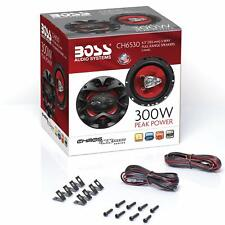 300 Watts Car Speakers 6.5 Inch Full Range 3 Way BOSS Audio Pair 150W Each New