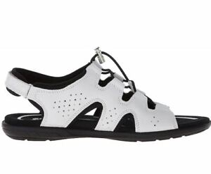 Ecco Size EUR 41 US 10 10.5 White Leather Sandals New Womens Shoes
