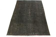 Orient Teppich Vintage Unikat 140x90 schwarz Used Look Trend handgeknüpft 3312