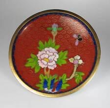Cloisonne Teller Schale rot Durchmesser ca 11 cm Emaille emailliert  neu