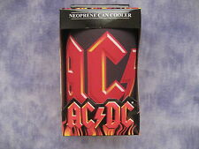 AC/DC Lg Logo Can Cooler / Stubbie Holder / Drink Insulator 12cm-In giftbox NEW!