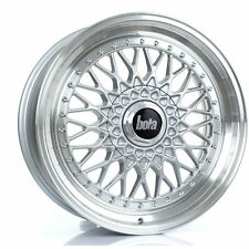 18 inch BOLA TX09 4x100 ET20-45 8J SILVER alloy wheels  Alpina 3 SERIES B3 E30 A