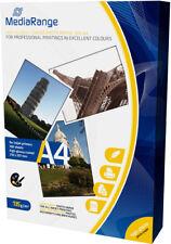 100 Mediarange Fotopapier 135g hochglänzend einseitig Tintenstrahl glossy DIN A4