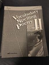 Vocabulary Spelling Poetry !! Grade 8 Teacher Key A Beka Book Homeschool