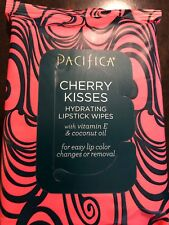 Pacifica Cherry Kisses Hydrating Lipstick Wipes 30 Pre Moistened Wipes New