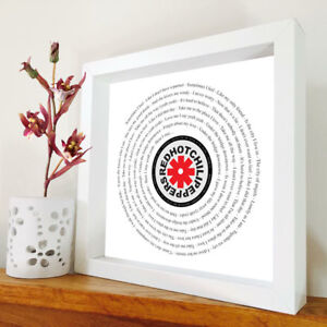 Red Hot Chili Peppers - Under The Bridge framed song lyrics -you choose the song