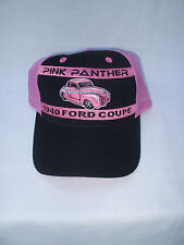 NOS vintage embroidered cap  hat: the pink panther 1940 ford