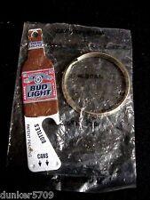 BUDWEISER BUD LIGHT KEY RING BOTTLE OPENER CAN OPENER FACTORY SEALED NEW