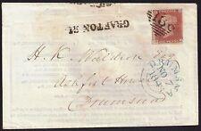 GB 1841 1d Victoria (1840-1901) sg 9 p 62 cover 186 [Dublin] Grafton St*