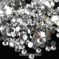 1000/5000pcs ss6-ss30 flatback crystal resin rhinestones Gem Nail Art beads Y-pk