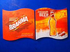 2006 Beer Bar Coaster ~ BRAHMA Premium Cerveja from BRASIL ~ Brewery Since 1888