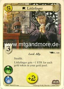 A Game of Thrones - 1x Littlefinger  #141 - Base Set