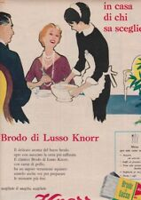 Pubblicità anni 60 BRODO LUSSO KNORR italian food cibo cucina