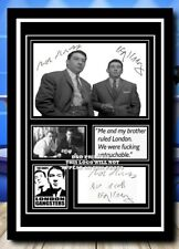 More details for (76) the kray twins ronnie & reggie signed unframed/framed photograph (reprint