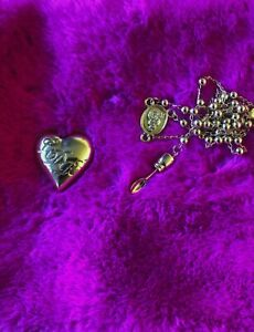 Lana Del Rey Heart Spoon Rosary Necklace!