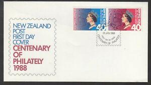 New Zealand 1988 FDC Centenary Of The Royal Philatelic Society Of New Zealand